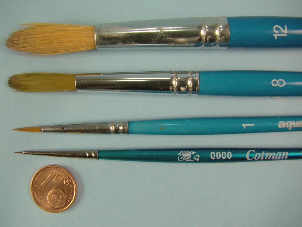 Brushes large and small