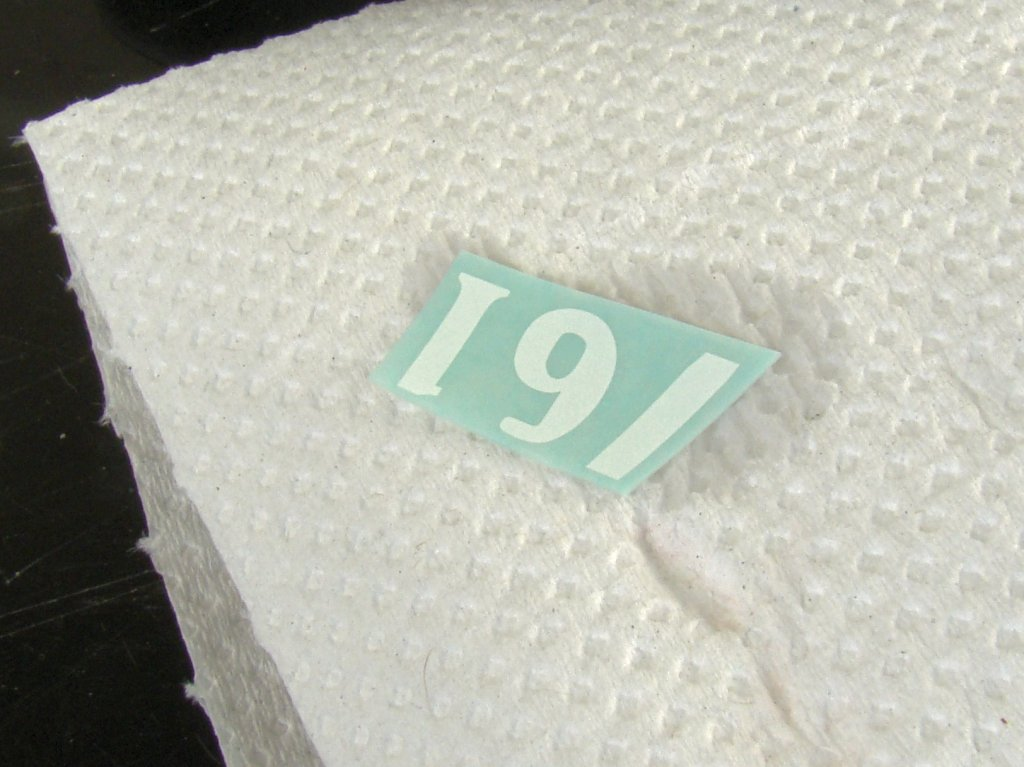 Decal on paper towel