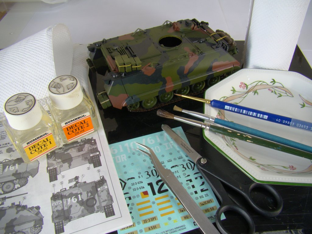 Decal work area