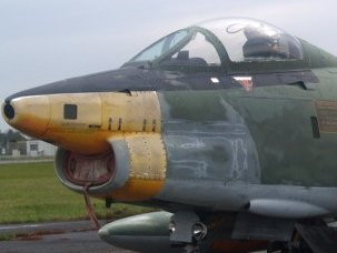 Fighter with worn paint job