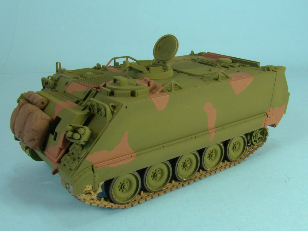 M113 after brown paint left side