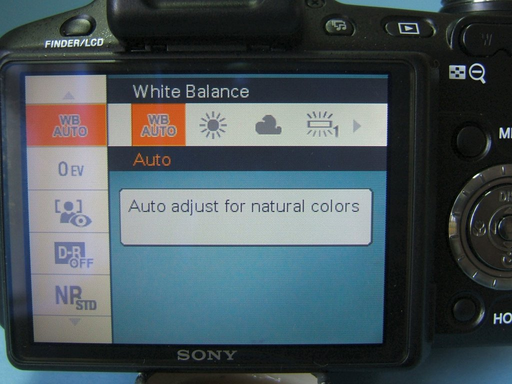 Photo-changing white balance