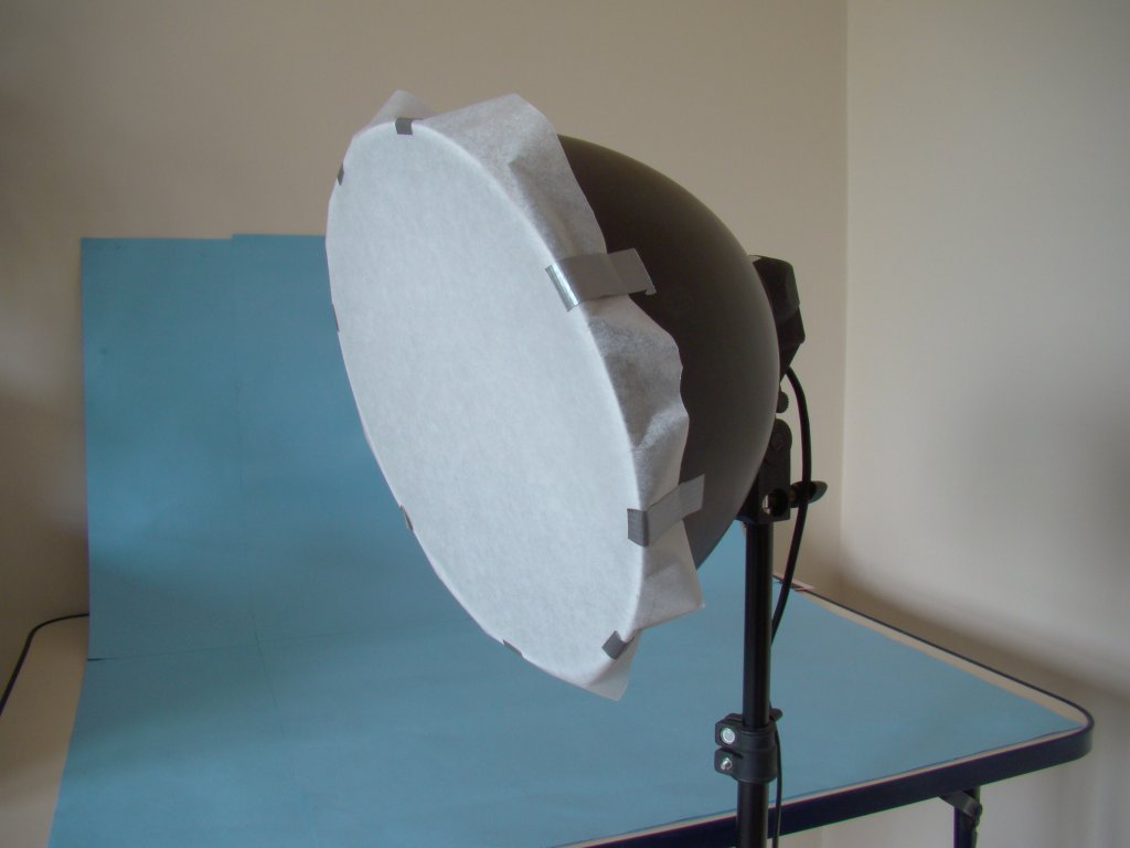 Photo light with diffuser