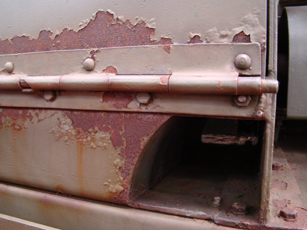 Rust on side of AFV