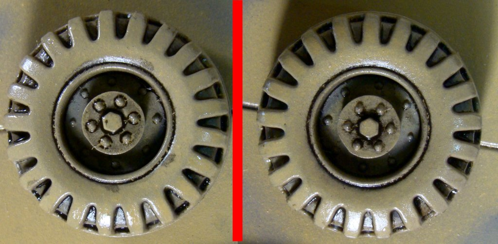 Washes-wheel before and after clean up